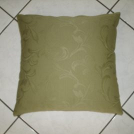 Olive green square cushion