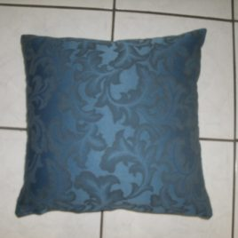 Blue paisley self print cushion