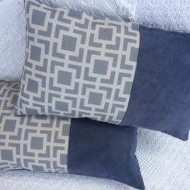 Blue Geometrical Cushion
