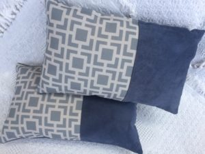 Blue Geometrical Cushion