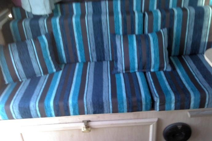 Jenni's Caravan update upholstery