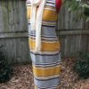 Mustard Stripe Maternity Dress
