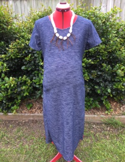 Blue solid maternity