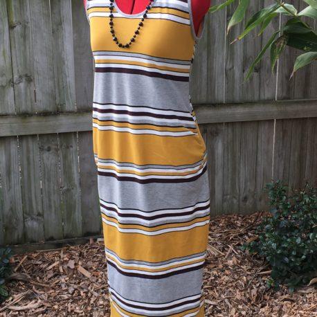 Maternity Mustard stripe