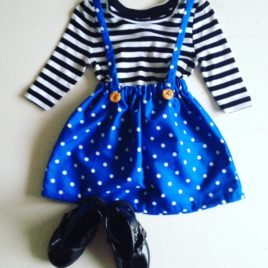 POLKA DOT SUSPENDER SKIRT SET