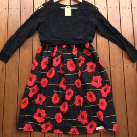 maternity black and red dress