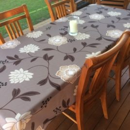 table cloth in floral