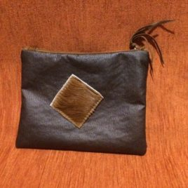 Leather and Hide Clutch