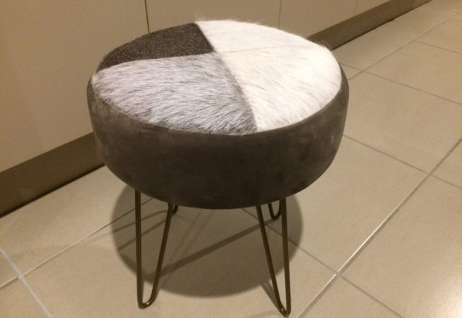 Cowhide Stool/ottoman